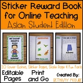 VIPKID Reward System | EDITABLE Sticker Book for Online Teaching ESL