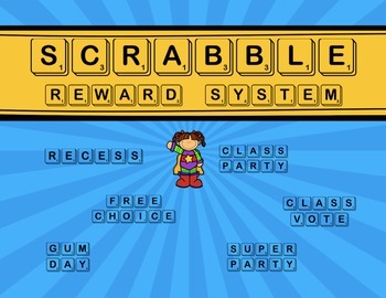 Reward System with Scrabble Tiles