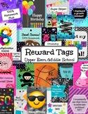Reward Tags Upper Elementary + Middle School