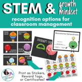 STEM and Growth Mindset - Reward Tags and Certificates for Classroom Management