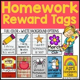 Reward Tags for Homework