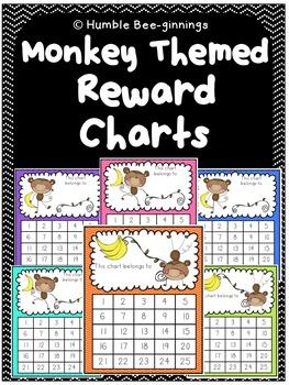 Reward Charts - Monkey Themed