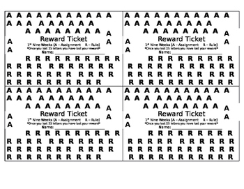 Reward Ticket