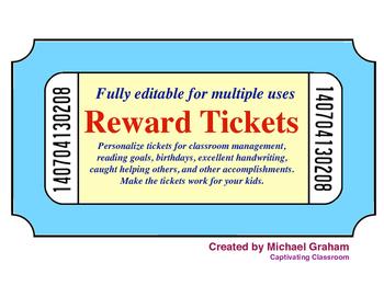 Reward Tickets - EDITABLE