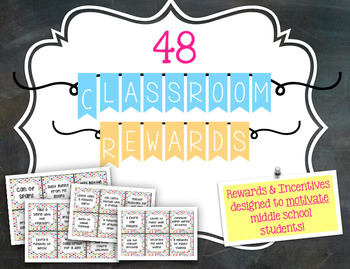 Reward Tickets & Incentives for Middle School Students