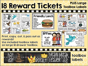 "Reward Tickets and Large ""Teacher Toolbox"" Labels"