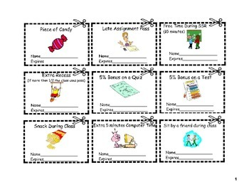 Reward Tickets for Students