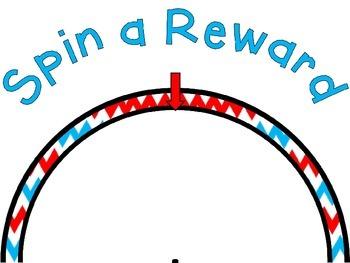 Reward Wheel (EDITABLE) in Red, White and Blue Chevron