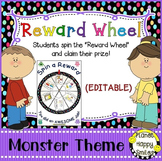 Reward Wheel (EDITABLE) in a Monster theme with Multi Color Polka Dots
