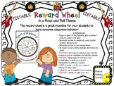 Reward Wheel (EDITABLE) in a Rock and Roll theme