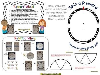 Reward Wheel (EDITABLE) in a Zebra Print