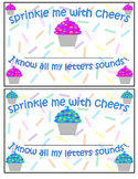 Printable Reward certificate and stickers for identifying letters sounds