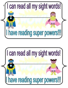 Printable Reward certificate and stickers for sight words