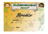 Reward certificates - effort and achievement