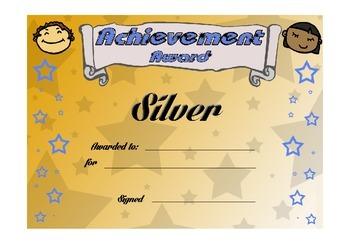 Reward certificates - effort and achievement