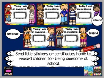 Reward stickers and certificates FREEBIE! {{ Today I was an awesome...}}