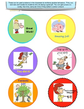 Reward tokens for good behavior and attitude