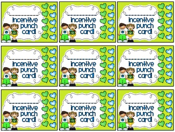 Reward/Homework punch cards: Earth Day-themed