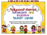 Reward/Homework punch cards - Hollywood-themed