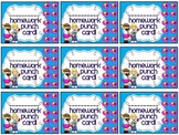 Reward/Homework punch cards: Rock N Roll-themed
