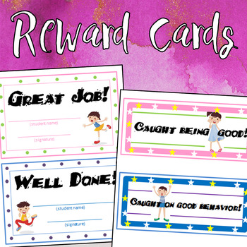 reward certificate cards for good behavior reading by dressed in