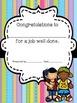 Reward Certificates, Birthday Cards, Notes from Teacher.....