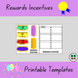 Rewards Coupons Templates (in color and in black & white)