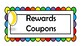 Rewards Coupons for students. Space theme classroom organizer