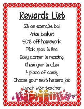 Rewards List