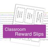 Rewards: List of Individual & Group Rewards, Reward Slips