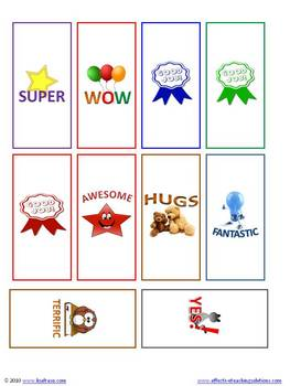 Rewards Miniature Chocolate Candy Wrappers - 10 Designs