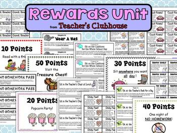 Rewards Unit from Teacher's Clubhouse