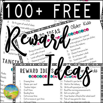 Rewards and Incentives FREE List