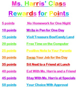 Stars Theme - Rewards and Incentives for Behavior