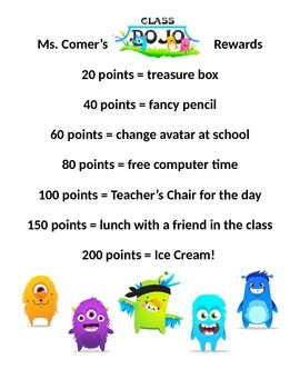 Rewards for Class Dojo