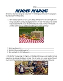 Rewind Reading Answering Text Based Questions Worksheet