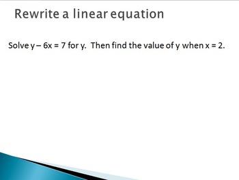 Rewrite Formulas and Equations