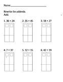 Rewrite Number Sentences to Add Common Core Math Unit 2 Addition Regrouping