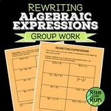 Rewriting Algebraic Expressions Activity