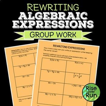 Rewriting Algebraic Expressions