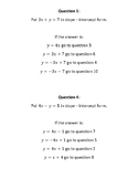 Rewriting Equations in Slope - Intercept Form