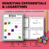 Rewriting Exponentials & Logarithms Math Bingo Review Game