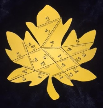 Rewriting Exponents in Expanded Form (Leaf Puzzle)
