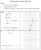 Rewriting Linear Equations in Slope-Intercept Form (y=mx+b)
