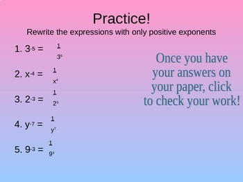 Rewriting Negative Exponent Expressions with Positive Exponents