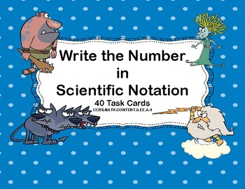 Rewriting Numbers From Decimals to Scientific Notation Tas