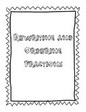 Rewriting and Ordering Fractions (Ascending and Descending