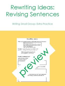 Rewriting or Revising Sentences