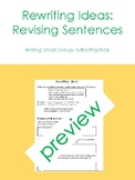 Rewriting or Revising Sentences