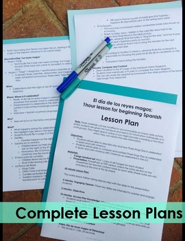 Reyes Magos 1 Hour Lesson - Beginning Spanish Middle & High School